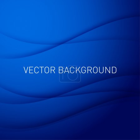 Illustration for Abstract blue vector background with place for text. - Royalty Free Image