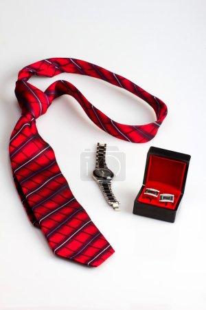Gentleman's set: tie, watches and cufflinks