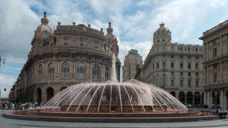 De Ferrari square, Genoa in Italy.