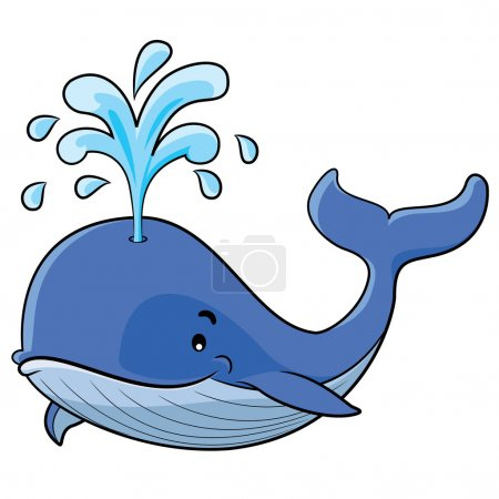Illustration for Illustration of cute cartoon whale - Royalty Free Image