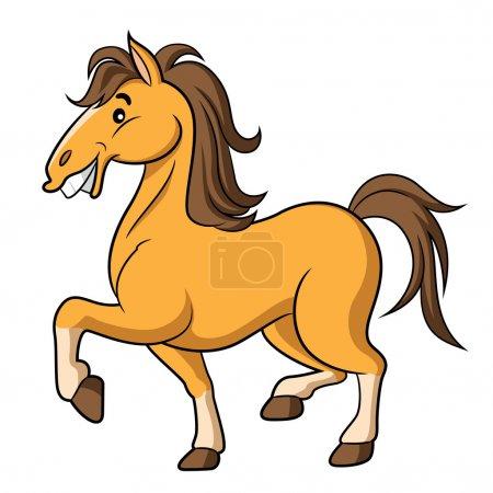 Illustration pour Illustration de mignon cheval de dessin animé . - image libre de droit
