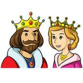 König Königin Cartoon