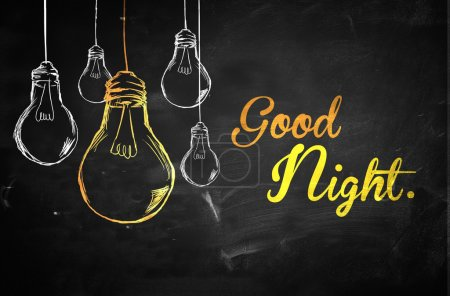 Photo for Good Night Bulbs Background - Royalty Free Image