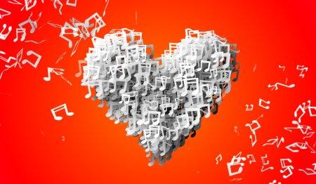 Love orange Musical Note