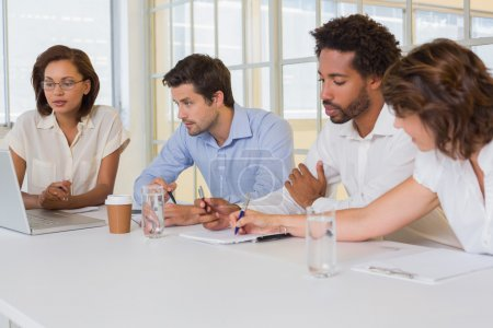 Photo for Group of young business people in meeting at the office - Royalty Free Image