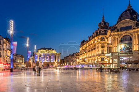 Photo for The largest open square in Europe is in Montpellier - Royalty Free Image