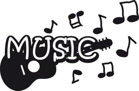 Black-and-white music illustration