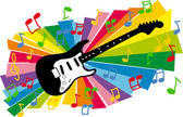 Guitar and music illustration
