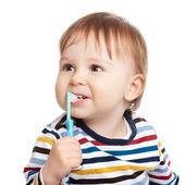 Brushing teeth is fun