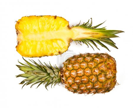 Photo for Fresh pineapple isolated on white, clipping path included - Royalty Free Image