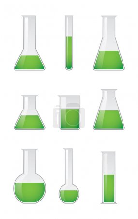 Illustration for A set fo test tube vectors - Royalty Free Image