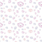 The abstract background made out of various color paper box icons