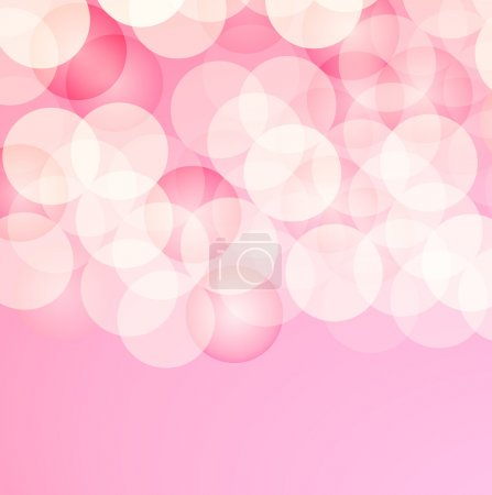 Illustration for The pinkish abstract background with light circles beauty background - Royalty Free Image