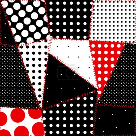 Illustration for Seamless background of patchwork polka dot - Royalty Free Image