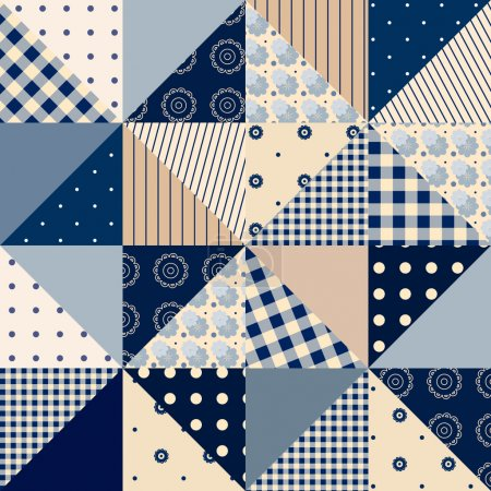 seamless background of patchwork