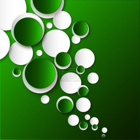 Foto de Círculos de color blanco y verde sobre fondo verde. - Imagen libre de derechos