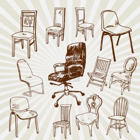 Chairs Hand Drawn