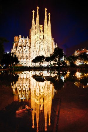 Expiatory church of La Sagrada Familia in Barcelona