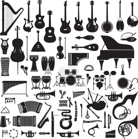60 images of musical instruments