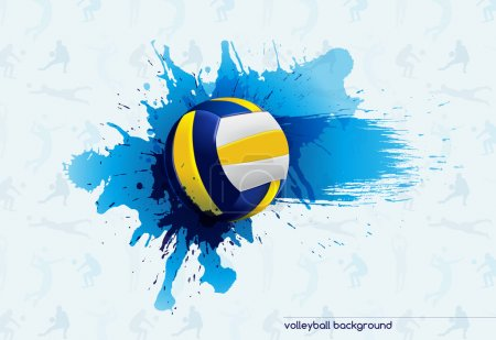 Abstract grungy background with volleyball....