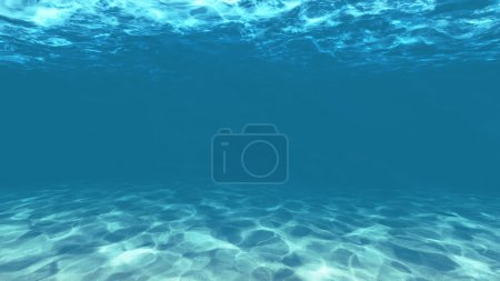 Photo pour Bleu clair sous l'eau avec texture sable - image libre de droit