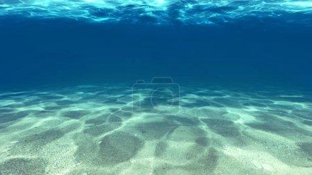 Photo pour Surface du sable sous l'eau dans la mer . - image libre de droit