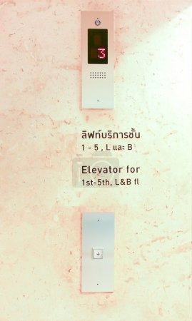 Symbols on equipment when leaving elevator