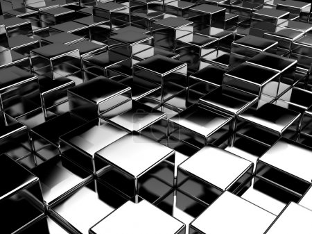 Abstract 3d background of the cubes