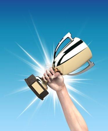 Photo pour Coupe du gagnant - image libre de droit