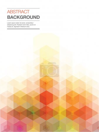 Illustration for Yellow and red blur background. - Royalty Free Image