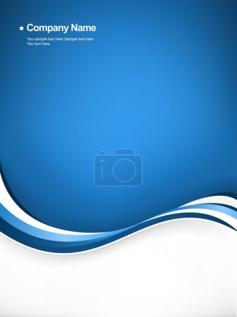 Illustration for Flowing blue wave background. - Royalty Free Image