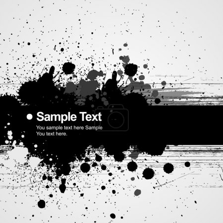 Illustration for Stylish black and white abstract background. - Royalty Free Image