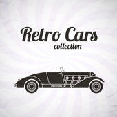Retro cabriolet sport car vintage collection classic garage sign vector illustration background can be used for design infographics