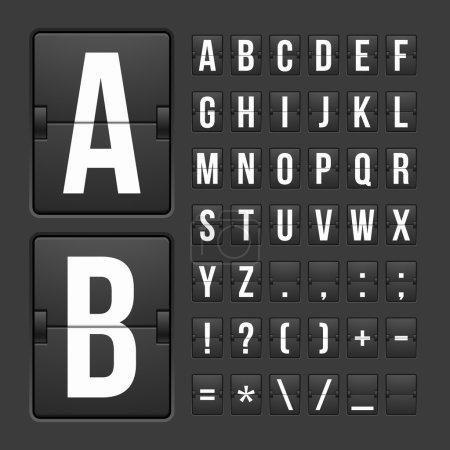 Scoreboard letters and symbols