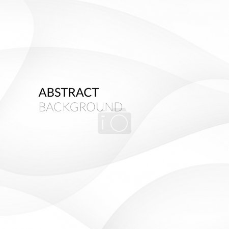 Illustration for Abstract white background with smooth lines, vector illustration - Royalty Free Image