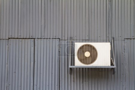 Condensing unit behind the old factory