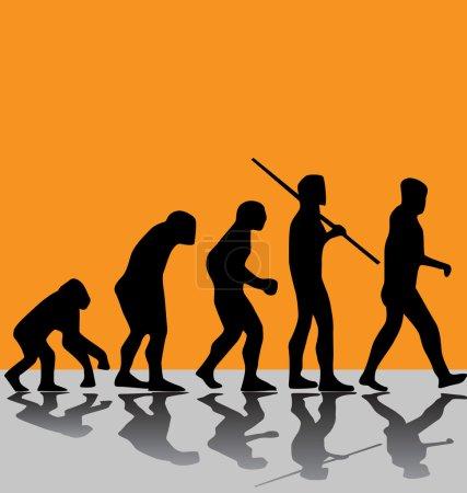 Illustration pour Évolution - image libre de droit