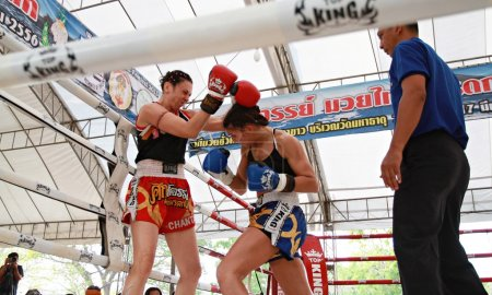 Thai boxing match at Muay Thai Fight Fastival