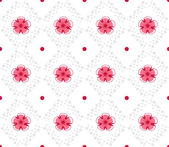 Geometrical pattern with abstract flowers