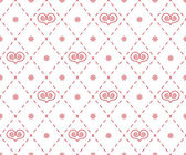 Geometrical pattern with abstract hearts