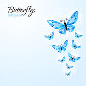 Abstract background with diamond butteflies