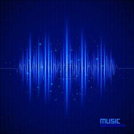 Music background with equalizer