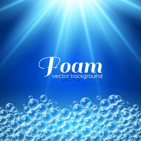 Illustration for Foam background. Vector illustration for your design - Royalty Free Image