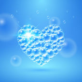 Shiny Heart of Bubbles