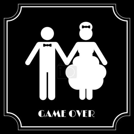 Hochzeitssymbol - Spiel vorbei