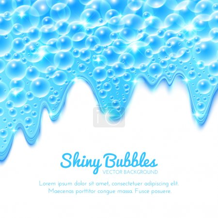 Illustration for Shining Water Background with Bubbles. Vector illustration - Royalty Free Image