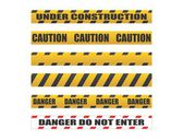 Caution  Danger yellow tapes