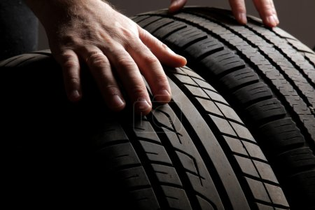 Photo for Car service. Tyres - Royalty Free Image