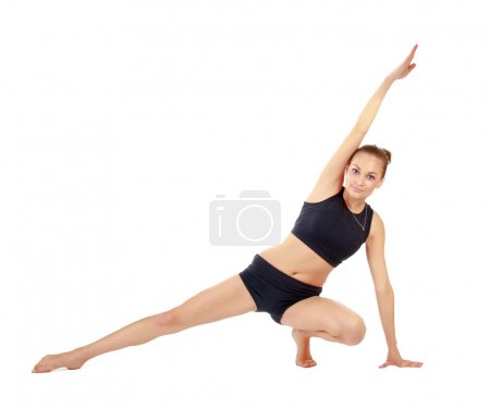 Woman doing stretching excersises