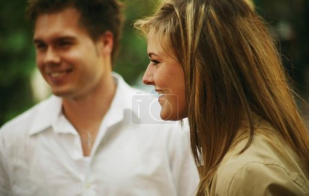 Photo for Couple Conversation - Royalty Free Image